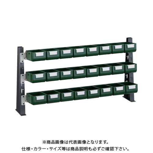 TRUSCO UPR型ライトビンラック卓上用 K-10GX24個 UPR-ML1803G