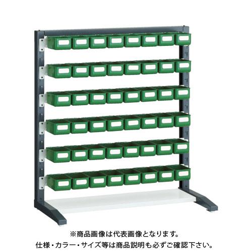 【個別送料1000円】【直送品】 TRUSCO UPRラック片面 H1000 K-10HYG 48個付 UPR-L1006C