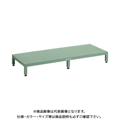【直送品】TRUSCO 高床用縞鋼板ステップ 1500X600XH190~220 UFSH-1560S