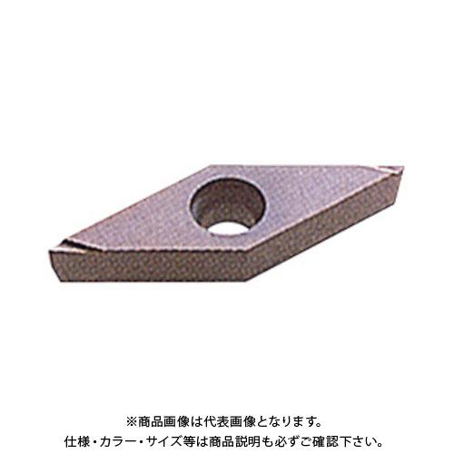 三菱 P級超硬旋削チップ 超硬 10個 VBGT110302R-F:HTI10