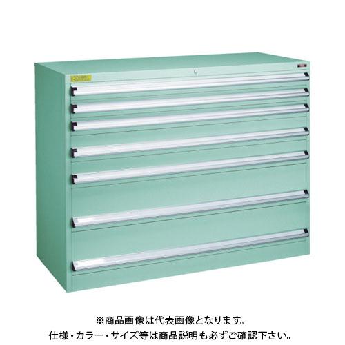 【運賃見積り】【直送品】 TRUSCO VE13S型キャビネット 1300X550XH1000 引出7段 VE13S-1004