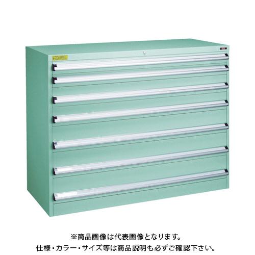 【運賃見積り】【直送品】 TRUSCO VE13S型キャビネット 1300X550XH1000 引出7段 VE13S-1005