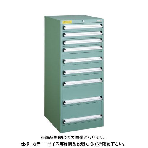 【運賃見積り】【直送品】 TRUSCO VE5S型キャビネット 500X550XH1200 引出9段 VE5S-1204