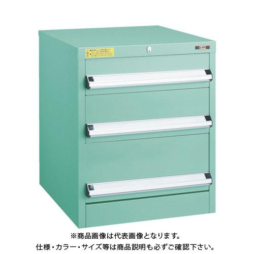【運賃見積り】【直送品】 TRUSCO VE5S型キャビネット 500X550XH600 引出3段 VE5S-603