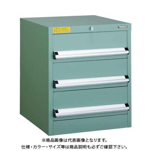 【運賃見積り】【直送品】 TRUSCO VE5S型キャビネット 500X550XH600 引出3段 VE5S-608