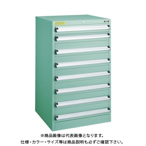 【運賃見積り】【直送品】 TRUSCO VE6S型キャビネット 600X550XH1000 引出8段 VE6S-1003