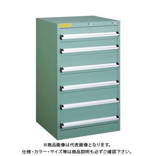 【運賃見積り】【直送品】 TRUSCO VE6S型キャビネット 600X550XH1000 引出6段 VE6S-1007