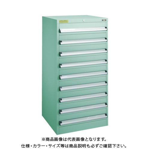 【運賃見積り】【直送品】 TRUSCO VE6S型キャビネット 600X550XH1200 引出9段 VE6S-1206