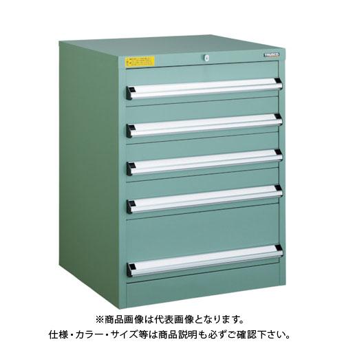 【運賃見積り】【直送品】 TRUSCO VE6S型キャビネット 600X550XH800 引出5段 VE6S-805