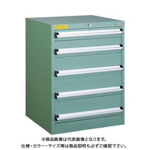 【運賃見積り】【直送品】 TRUSCO VE6S型キャビネット 600X550XH800 引出5段 VE6S-808