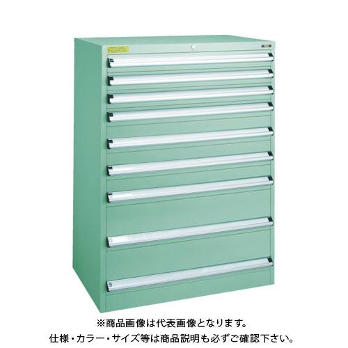 【運賃見積り】【直送品】 TRUSCO VE9S型キャビネット 880X550XH1200 引出9段 VE9S-1204