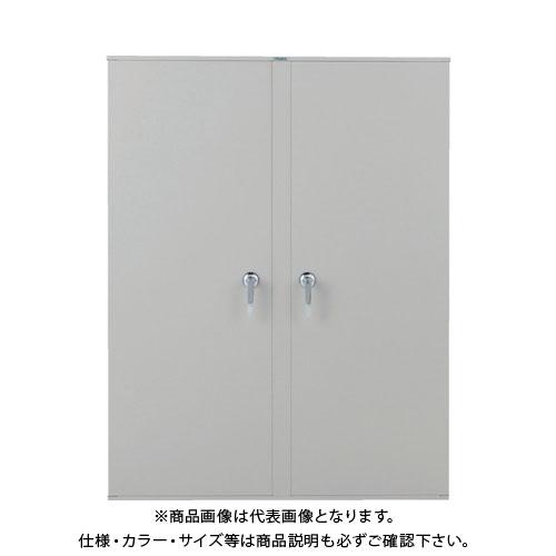 【運賃見積り】【直送品】 TRUSCO スチール両開扉 H1200用 ネオグレー VD-40:NG