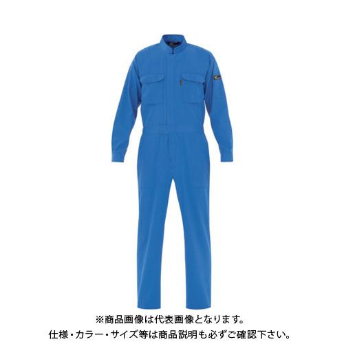 ミドリ安全 ベルデクセル T/C帯電防止ツナギ服 ブルー L VE 413-L
