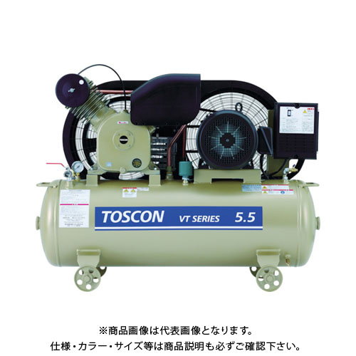 【直送品】東芝 タンクマウントシリーズ オイルフリー コンプレッサ(低圧) VLT105-7T