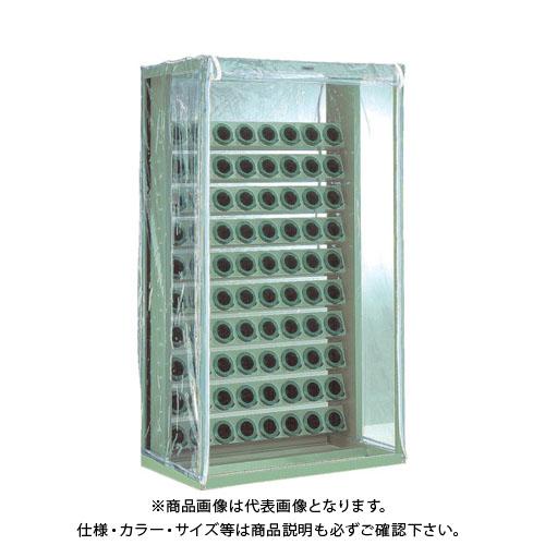 【運賃見積り】【直送品】 TRUSCO ツーリングラック 帯電防止カバー付 BT・NT50用 80個収納 VTL-108B