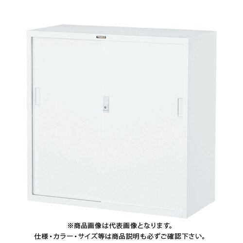 【個別送料2000円】【直送品】 TRUSCO スタンダード書庫(D400) スチール引違 880XH880 ホワイト W303D