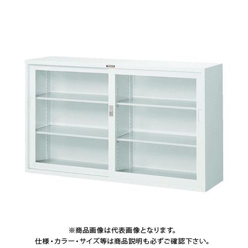 【個別送料2000円】【直送品】 TRUSCO スタンダード書庫(D400) ガラス引違 1500XH880 ホワイト W305G