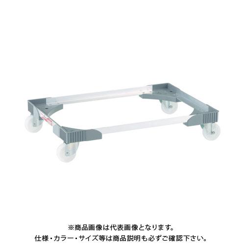 【直送品】ワコー アルミアングルドーリー(エアーキャスター仕様) WA-50-75N-GR