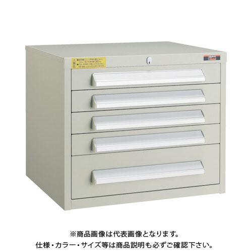 【個別送料1000円】【直送品】 TRUSCO WLVR型キャビネット 500X412X420 引出5段 ネオグレー WLVR-423:NG