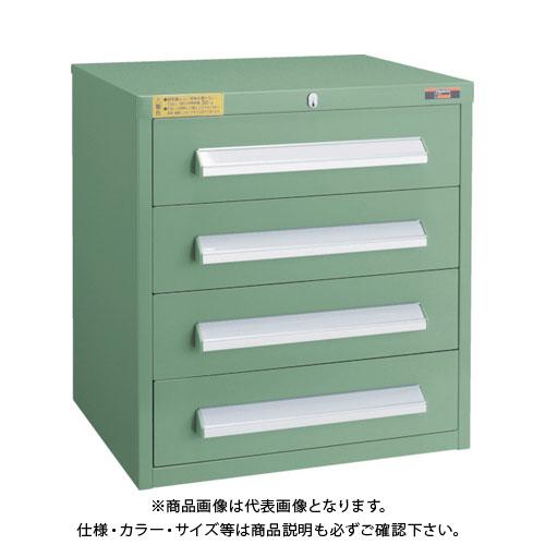【個別送料1000円】【直送品】 TRUSCO WLVR型キャビネット 500X412XH540 引出4段 緑 WLVR-542:GN