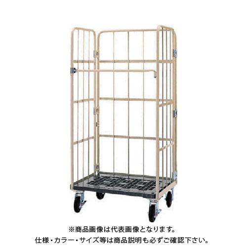【直送品】ワコー 床板プラスチック製カゴ車 800x600x1700 WKP-8060