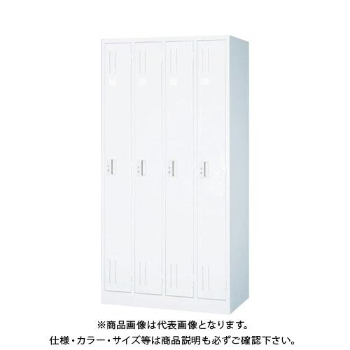 【個別送料2000円】【直送品】 TRUSCO スタンダードロッカー 4人用 900X515XH1790 ホワイト WL47