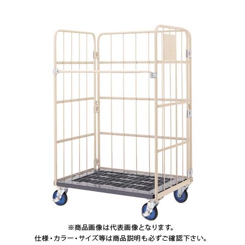 【直送品】ワコー 床板プラスチック製カゴ車 950x800x1700 WKP-9580