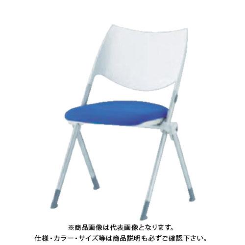 【運賃見積り】【直送品】 アイリスチトセ ミーティングチェア WSX-02 ブルー WSX-02-F-BL