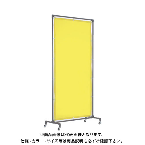 【運賃見積り】【直送品】TRUSCO 溶接遮光フェンス 1515型単体 キャスター 緑 YF1515-GN
