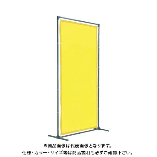 【運賃見積り】【直送品】TRUSCO 溶接遮光フェンス 1515型単体 キャスター 黄 YF1515-Y