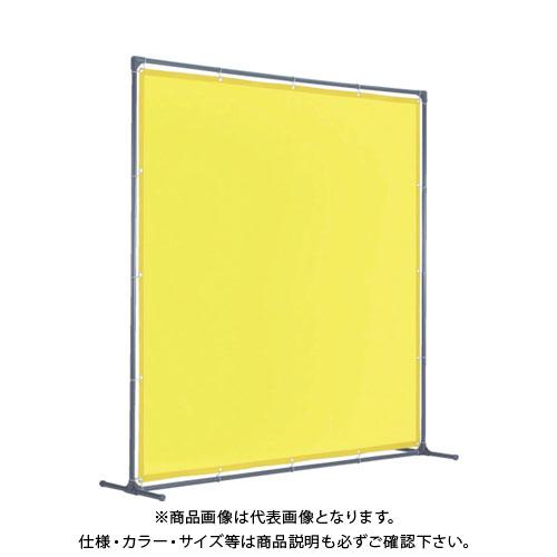 【運賃見積り】【直送品】TRUSCO 溶接遮光フェンス 2015型単体 固定足 黄 YF2015K-Y