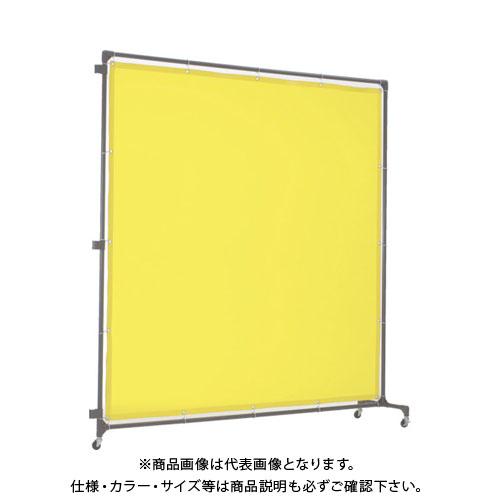 【運賃見積り】【直送品】TRUSCO 溶接遮光フェンス 2015型接続 キャスター 緑 YF2015S-GN