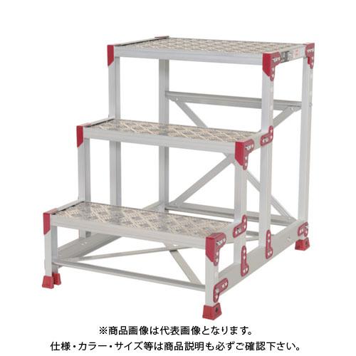 【運賃見積り】【直送品】ピカ 作業台 ZG-P型縞板仕様 3段 幅60cm高さ75cm ZG-3675P