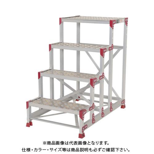 【運賃見積り】【直送品】ピカ 作業台 ZG-P型縞板仕様 4段 幅60cm高さ100cm ZG-4610P