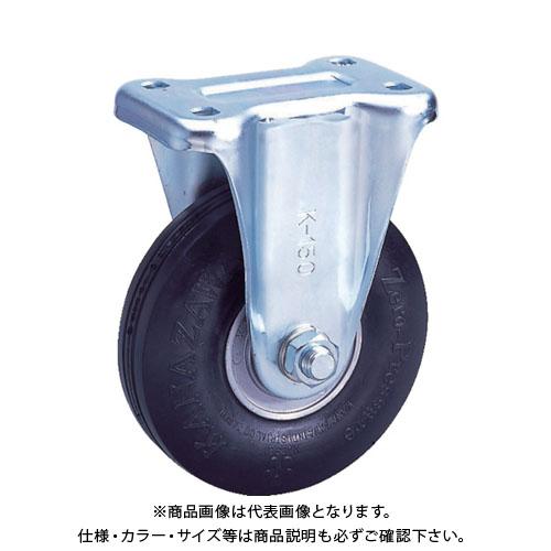 カナツー ゼロプレッシャータイヤ 固定金具付 荷重156.9  ZP-W 10X2.75MS-GY