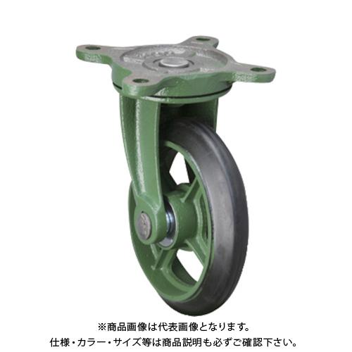 【運賃見積り】【直送品】東北車輛製造所 標準型自在金具付ゴム車輪 300BRB