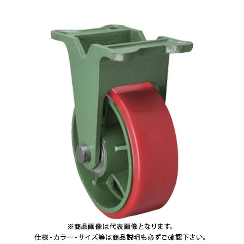 【運賃見積り】【直送品】東北車輛製造所 幅広型固定金具付ウレタン車輪 300X75TKULB