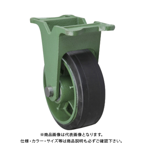 【運賃見積り】【直送品】東北車輛製造所 幅広型固定金具付ゴム車輪 150X75TKB