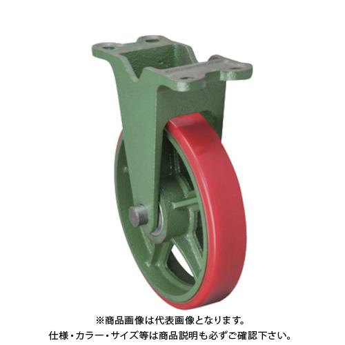 【運賃見積り】【直送品】東北車輛製造所 標準型固定金具付ウレタン車輪 300KULB