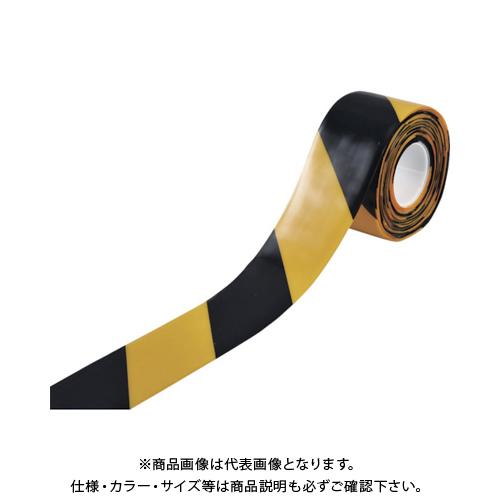 緑十字 高耐久ラインテープ 黄/黒 100mm幅×10m 両端テーパー構造 403087