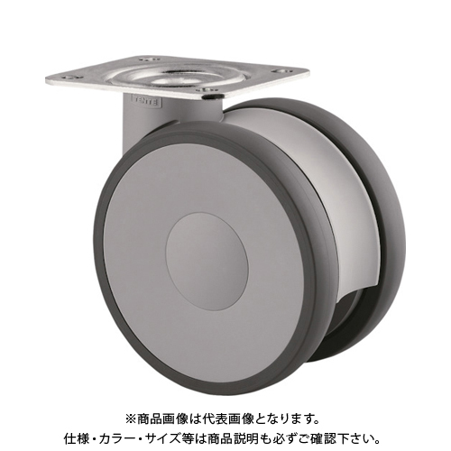 テンテキャスター 高性能旋回双輪キャスターLINEA(ウレタン車輪) 5940UAP125P63