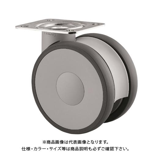 テンテキャスター 高性能旋回双輪キャスターLINEA(ウレタン車輪) φ150 自在式 5940UAP150P63
