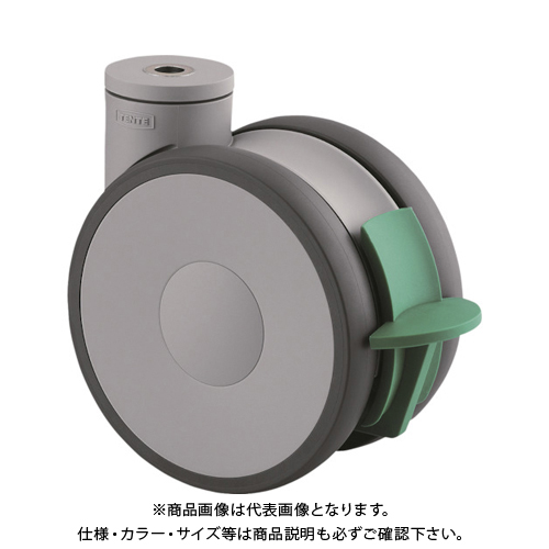 テンテキャスター 高性能旋回双輪キャスターLINEA(ウレタン車輪) 5941UAP125P30-13