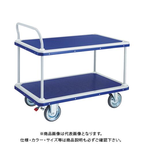 【運賃見積り】【直送品】TRUSCO ドンキーカート 2段式片袖1225×775 S付 504NS