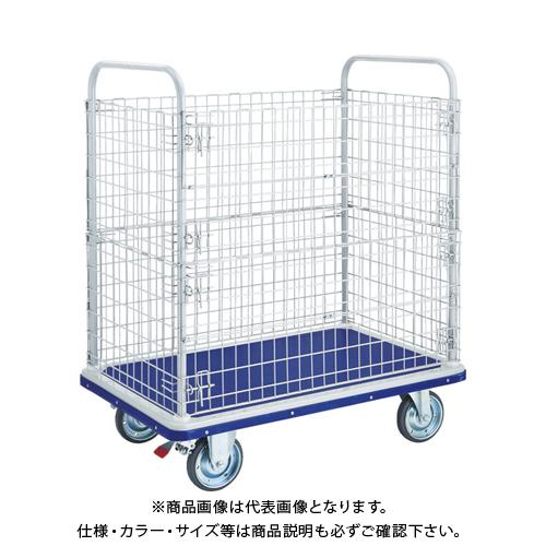 【運賃見積り】【直送品】TRUSCO ドンキーカート 2段金網付 1225×775 S付 507WNS