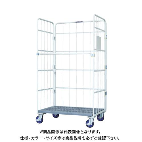 【直送品】ワコー 床板プラスチック製カゴ車 1150x800x2000 WKP-11580H