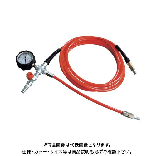 【運賃見積り】【直送品】Hoshin 止水ボール用空気注入ホース10m(圧力計付) WSNHA10M