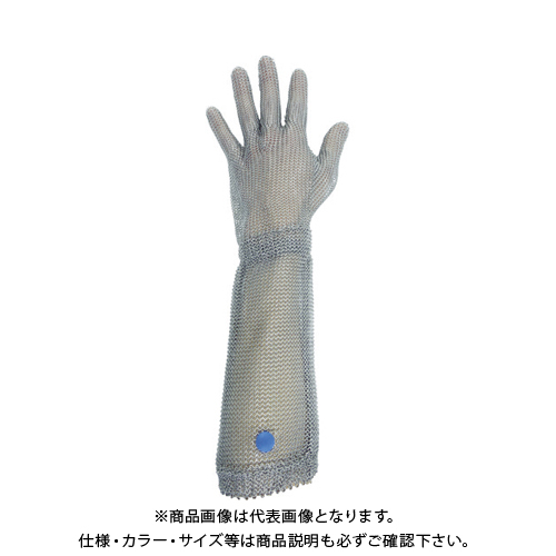 ミドリ安全 ステンレス製 耐切創クサリ手袋 5本指 ロングタイプ WILCO-550 Lサイズ 1枚 WILCO-550-L