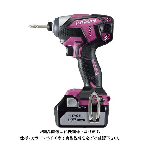 HiKOKI 18Vコードレスインパクトドライバ3.0Ah ピンク WH18DKL-2LSCK-R
