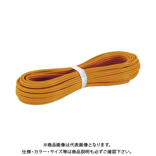 TRUSCO VFFビニールコード 100m オレンジ TVFF1.25-2C-100OR